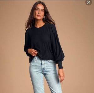 NWT Free People Billie Cropped Contrast Tee